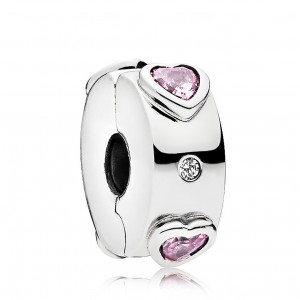925 Sterling Silver Explosion of Love Clip Charm Bead For Pandora Bracelet