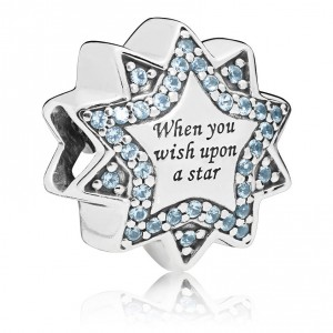 925 Sterling Silver When You Wish Upon A Star Charm Bead
