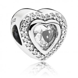 925 Sterling Silver Sparkling Love Charm Bead