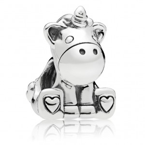 925 Sterling Silver Bruno the Unicorn Charm Bead