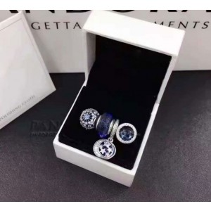 925 Sterling Silver Pandora Charm Beads Jewelry Gift Set-Set Four