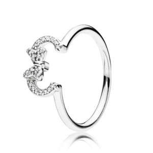 925 Sterling Silver Disney Minnie Silhouette Ring