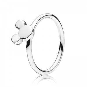 925 Sterling Silver Disney Mickey Silhouette Ring