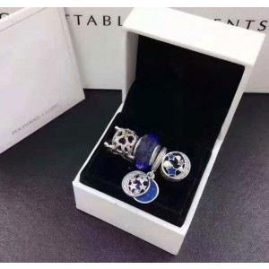 925 Sterling Silver Charm Beads Jewelry Gift Set-set one
