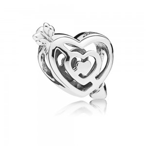 925 Sterling Silver Valentine's Day Path to Love Charm Bead For Pandora Bracelet