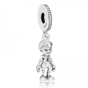 925 Sterling Silver Pinocchio Dangle Charm Bead