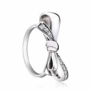 925 Sterling Silver Mother's Day Bow Ring