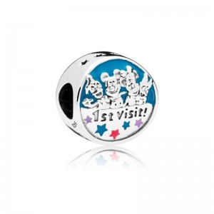 925 Sterling Silver Disney Parks My 1st Visit Charm Bead