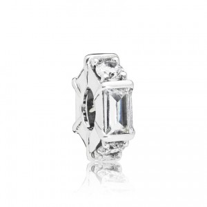 925 Sterling Silver Ice Sculpture Spacer Charm Bead For Pandora Bracelet