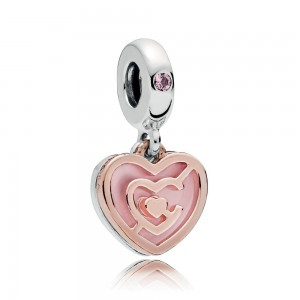925 Sterling Silver Valentine's Day Path to Love Pendant Charm Bead For Pandora Bracelet
