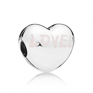 925 Sterling Silver Loved Heart Clip Charm Bead For Pandora Bracelet