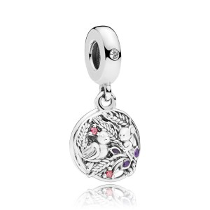 925 Sterling Silver Always by your Side Charm Bead For Pandora Bracelet