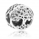 925 Sterling Silver Family Roots Charm Bead