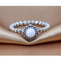 925 Sterling Silver October Birthday Bloom Stackable Birthstone Ring