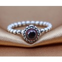 925 Sterling Silver January Birthday Bloom Stackable Birthstone Ring