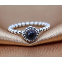 925 Sterling Silver February Birthday Bloom Stackable Birthstone Pandora Ring
