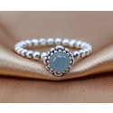 925 Sterling Silver March Birthday Bloom Stackable Birthstone Pandora Ring
