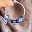 925 Sterling Silver Complete Finished Pandora Charm Bracelet-Ice and Snow