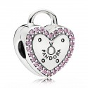 925 Sterling Silver Lock Your Promise Clip Charm Bead For Pandora Bracelet