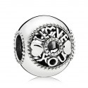 925 Sterling Silver Talk About Love Charm Bead For Pandora Bracelet