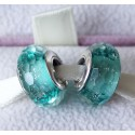 Teal Shimmer Faceted Murano Glass Bead